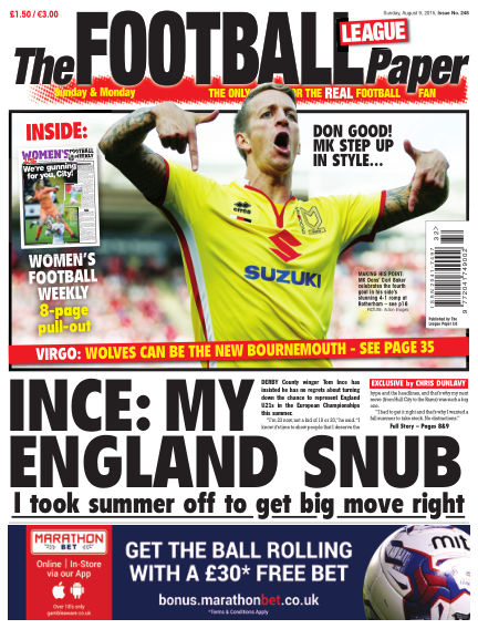 The Football League Paper August 09, 2015 00:00