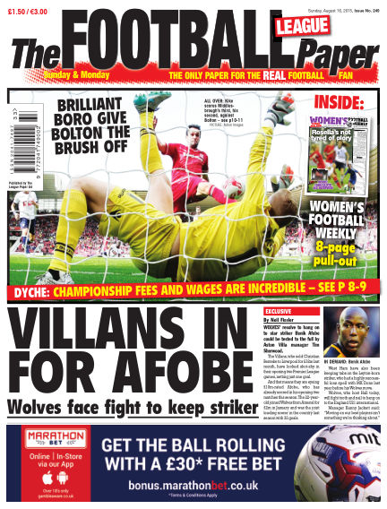 The Football League Paper August 16, 2015 00:00