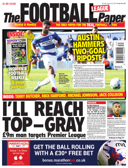 The Football League Paper August 23, 2015 00:00