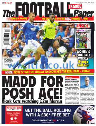 The Football League Paper 30th August 2015