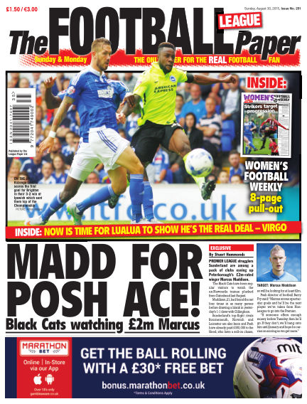 The Football League Paper August 30, 2015 00:00