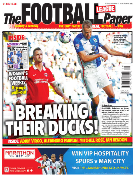 The Football League Paper September 20, 2015 00:00
