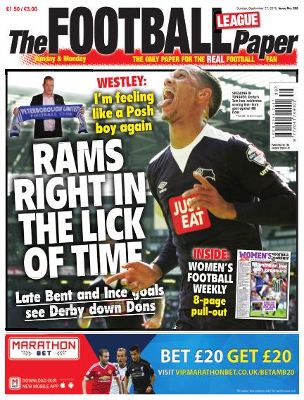 The Football League Paper September 27, 2015 00:00