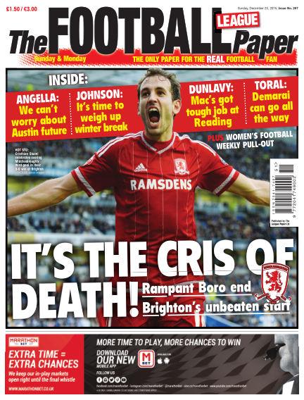 The Football League Paper December 20, 2015 00:00