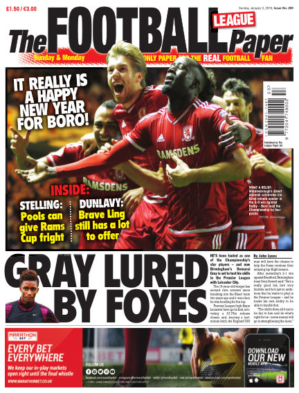 The Football League Paper January 03, 2016 00:00
