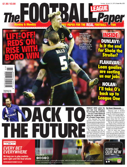 The Football League Paper January 24, 2016 00:00