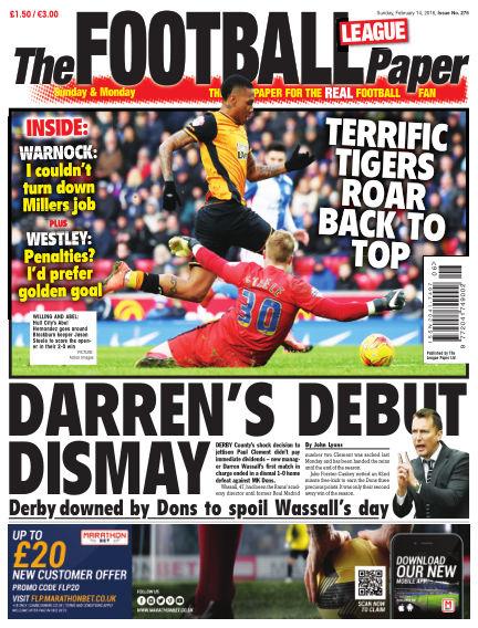 The Football League Paper February 14, 2016 00:00