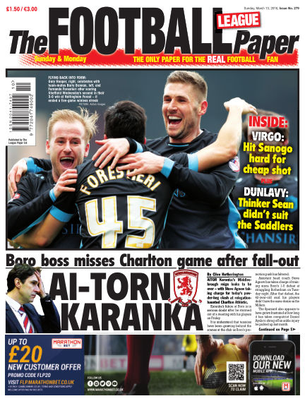 The Football League Paper March 13, 2016 00:00