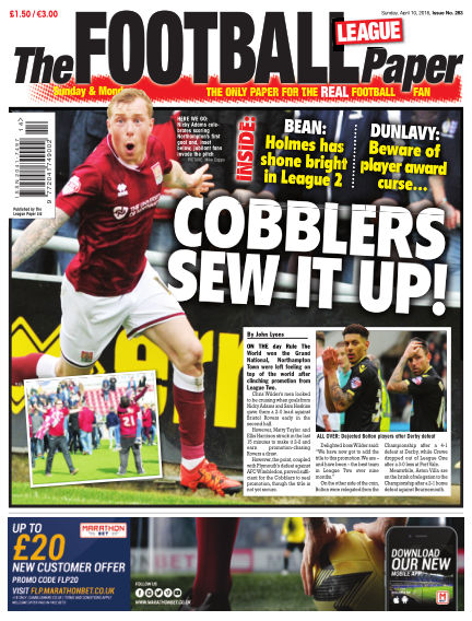 The Football League Paper April 10, 2016 00:00