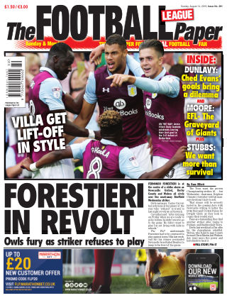 The Football League Paper 14th August 2016