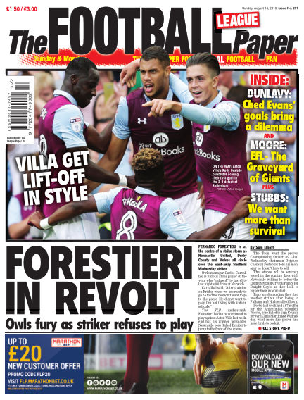 The Football League Paper August 14, 2016 00:00