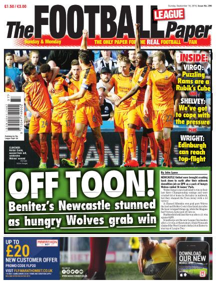 The Football League Paper September 18, 2016 00:00