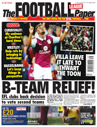The Football League Paper 25th September 2016