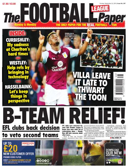 The Football League Paper September 25, 2016 00:00