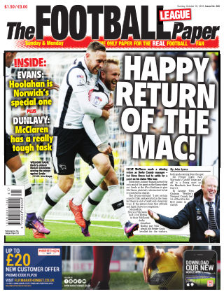 The Football League Paper 16th October 2016