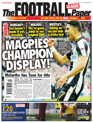 The Football League Paper 23rd October 2016