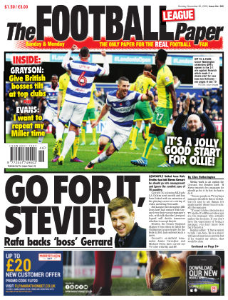 The Football League Paper 20th November 2016