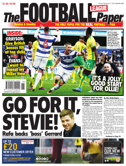 The Football League Paper November 20, 2016 00:00