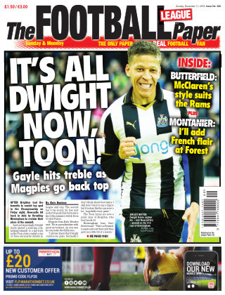 The Football League Paper 11th December 2016