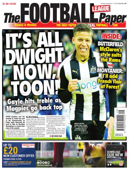 The Football League Paper December 11, 2016 00:00