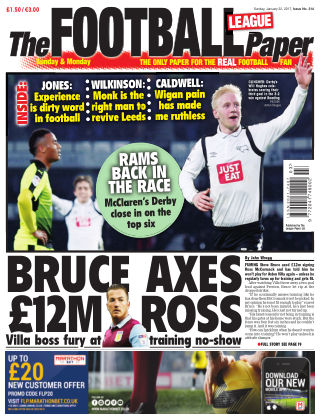The Football League Paper 22nd January 2017
