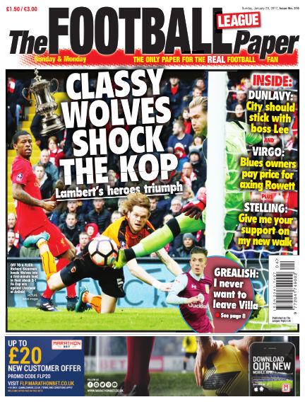 The Football League Paper January 29, 2017 00:00