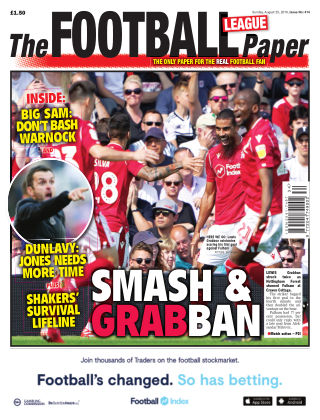 The Football League Paper 25th August 2019