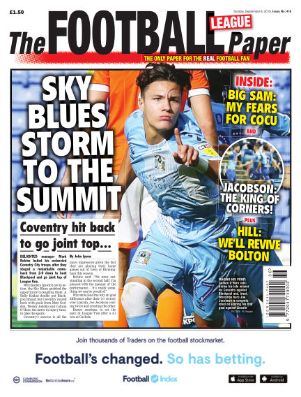 The Football League Paper September 08, 2019 00:00