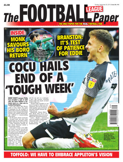 The Football League Paper September 29, 2019 00:00