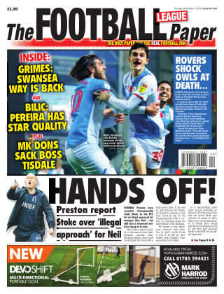 The Football League Paper 3rd November 2019