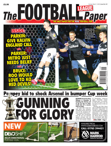 The Football League Paper March 01, 2020 00:00