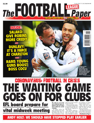 The Football League Paper 15th March 2020