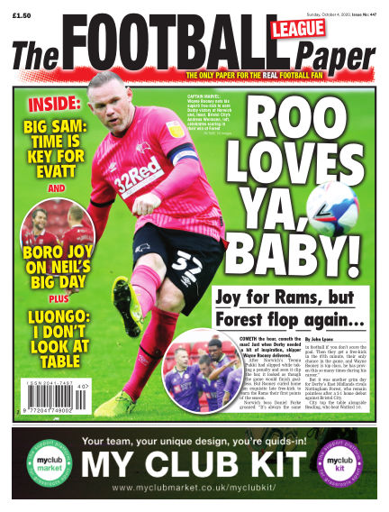The Football League Paper October 04, 2020 00:00