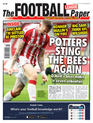The Football League Paper 25th October 2020