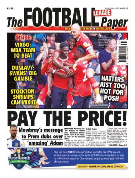 The Football League Paper August 08, 2021 00:00