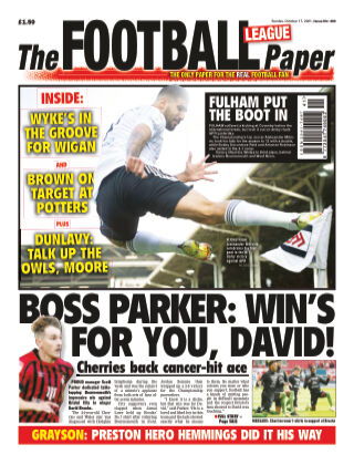 The Football League Paper 17th October 2021