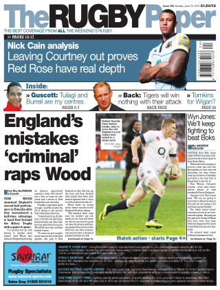 The Rugby Paper 15th June 2014