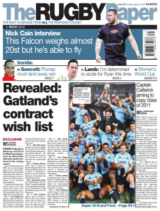 The Rugby Paper 3rd August 2014