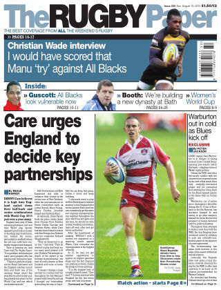 The Rugby Paper 10th August 2014