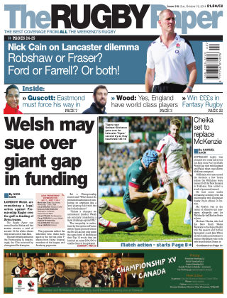 The Rugby Paper 19th October 2014