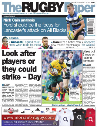 The Rugby Paper 2nd November 2014