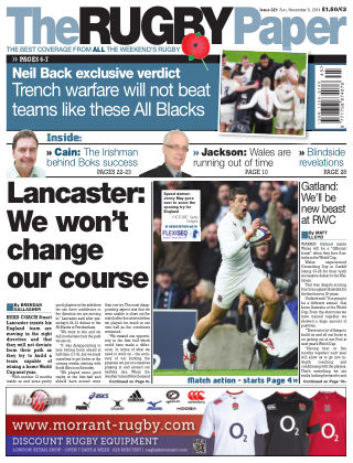 The Rugby Paper 9th November 2014
