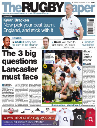 The Rugby Paper 16th November 2014