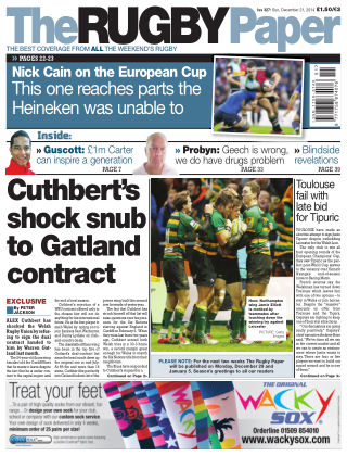 The Rugby Paper 21st December 2014