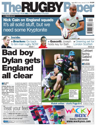 The Rugby Paper 25th January 2015