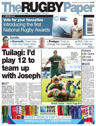 The Rugby Paper 29th March 2015