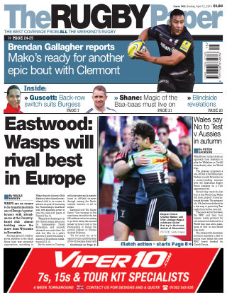 The Rugby Paper 12th April 2015