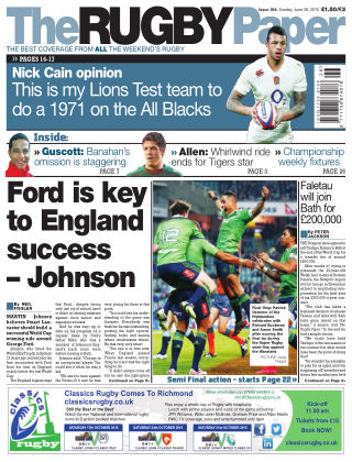 The Rugby Paper 28th June 2015