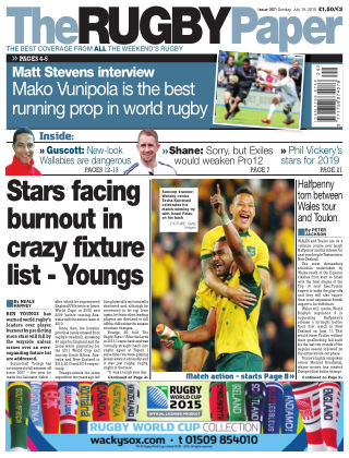 The Rugby Paper 19th July 2015