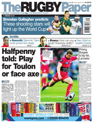 The Rugby Paper 2nd August 2015